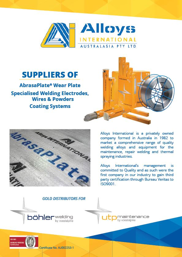 Alloys International Brochure 2019 Cover