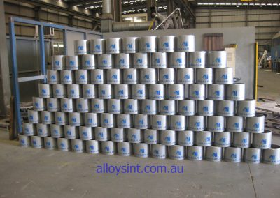 Internally Hardfaced Pipe for cement industry